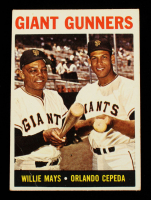 Willie Mays / Orlando Cepeda 1964 Topps #306 Giant Gunners at PristineAuction.com
