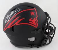Mac Jones Signed Patriots Full-Size Eclipse Alternate Speed Helmet (Beckett Hologram) at PristineAuction.com