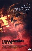 """James Jude Courtney Signed """"Halloween Kills"""" 11x17 Poster Photo Inscribed """"The Shape"""" (JSA COA) at PristineAuction.com"""