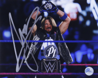 AJ Styles Signed WWE 8x10 Photo (Pro Player Hologram) at PristineAuction.com