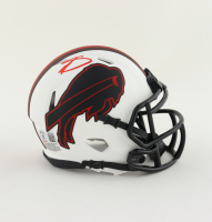 Stefon Diggs Signed Bills Lunar Eclipse Alternate Speed Mini Helmet (Beckett COA) at PristineAuction.com