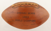 1963 Bears Team Signed Football Signed By (40) with Mike Ditka, George Halas, George Allen, Stan Jones (JSA LOA) (See Description) at PristineAuction.com