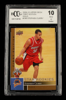 Stephen Curry 2009-10 Upper Deck First Edition Gold #196 (BCCG 10) at PristineAuction.com