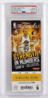 Stephen Curry Signed 2015 NBA Finals Game 2 Game Day Ticket (PSA Encapsulated) at PristineAuction.com