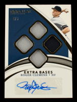 Roger Clemens 2021 Immaculate Collection Extra Bases Material Autographs #23 #4/5 at PristineAuction.com