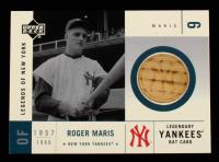 Roger Maris 2001 Upper Deck Legends of NY Game Bat #LYBRM at PristineAuction.com