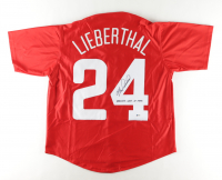 """Mike Lieberthal Signed Jersey Inscribed """"Phillies Wall of Fame"""" (Beckett COA) at PristineAuction.com"""