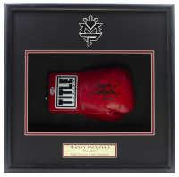 """Manny """"Pacman"""" Pacquiao Signed 18x19x4 Custom Framed Title Boxing Glove Shadow Box Display (Beckett COA) at PristineAuction.com"""