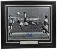 Pele Signed Team Brazil 22x27 Custom Framed Photo Display (Beckett COA) at PristineAuction.com