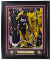 Allen Iverson Signed 76ers 22x27 Custom Framed Photo Display (PSA COA) at PristineAuction.com