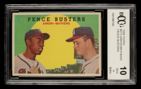 Hank Aaron / Eddie Mathews 1959 Topps #212 Fence Busters (BCCG 10) at PristineAuction.com