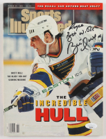 "Brett Hull Signed ""Sports Illustrated"" Magazine with Inscription (JSA COA) at PristineAuction.com"