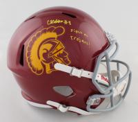 "Chris Steele Signed USC Trojans Full-Size Speed Helmet Inscribed ""Fight On Trojans!"" (JSA COA) at PristineAuction.com"
