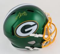 Davante Adams Signed Packers Full-Size Flash Alternate Speed Helmet (Beckett Hologram) at PristineAuction.com