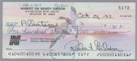Bob Gibson Signed Hand-Written 1992 Personal Bank Check (PSA COA) at PristineAuction.com