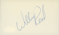 Willis Reed Signed 3x5 Index Card (JSA COA) at PristineAuction.com