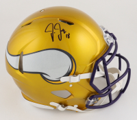 Justin Jefferson Signed Vikings Full-Size Authentic On-Field Flash Alternate Speed Helmet (Beckett COA) at PristineAuction.com
