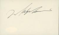 Mark Messier Signed 3x5 Index Card (JSA COA) at PristineAuction.com