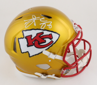 Travis Kelce Signed Chiefs Full-Size Flash Alternate Authentic On-Field Speed Helmet (Beckett COA) at PristineAuction.com