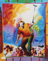 Jack Nicklaus & Peter Max Signed 11x14 Photo (JSA LOA) at PristineAuction.com