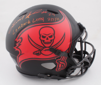 """Leonard Fournette Signed Buccaneers Full-Size Authentic On-Field Eclipse Alternate Speed Helmet Inscribed """"Lombardi Lemy 2/7/21""""  (Fanatics Hologram) at PristineAuction.com"""