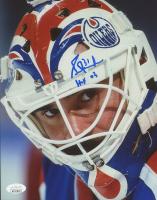 "Grant Fuhr Signed Oilers 8x10 Photo Inscribed ""HOF 03"" (JSA COA) at PristineAuction.com"