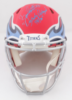 """Derrick Henry Signed Titans Full-Size Authentic On-Field AMP Alternate Speed Helmet Inscribed """"Dynasty Destroyed 1/4/20"""" (Beckett COA) at PristineAuction.com"""