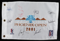 2001 Phoenix Open PGA Tour Flag Signed by (8) with Sergio Garcia, David Duval, Lee Janzen, Nick Price (Beckett LOA) at PristineAuction.com