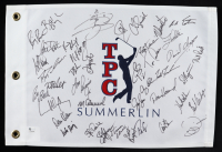 TPC Summerlin Flag Signed by (41) with Tom Pernice Jr., Charles Howell III, Daniel Chopra, Mark Calcavecchia (Beckett LOA) at PristineAuction.com