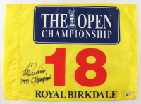 """Lee Trevino Signed British Open Flag Inscribed """"1971 Champion"""" (Beckett COA) at PristineAuction.com"""