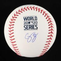 Corey Seager Signed OML 2020 World Series Baseball (MLB Hologram & Fanatics Hologram) at PristineAuction.com
