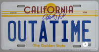 """Michael J. Fox Signed """"Back to the Future"""" License Plate (Beckett Hologram) at PristineAuction.com"""