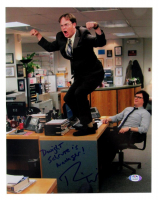 """Rainn Wilson Signed """"The Office"""" 11x14 Photo Inscribed """"Dwight Schrute is Manager!"""" (PSA COA) at PristineAuction.com"""