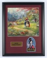 "Thomas Kinkade Walt Disney's ""Mulan"" 16x20 Custom Framed Print Display With Patch at PristineAuction.com"