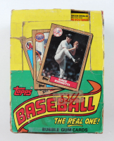 """1987 Topps """"The Real One"""" Bubble Gum Baseball Cards Box with (36) Packs at PristineAuction.com"""