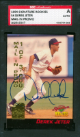 Derek Jeter Signed 1994 Signature Rookies Hottest Prospects Mail-In Promos #S4 (SGC Encapsulated) at PristineAuction.com