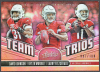 Kyler Murray / Larry Fitzgerald / David Johnson 2019 Absolute Team Trios Spectrum Red #19 #97/100 at PristineAuction.com