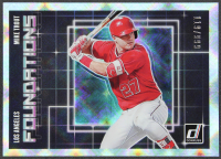 Mike Trout 2018 Donruss Foundations Silver #F4 #119/999 at PristineAuction.com