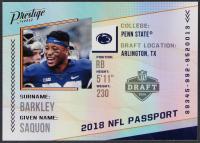 Saquon Barkley 2018 Prestige NFL Passport #9 at PristineAuction.com