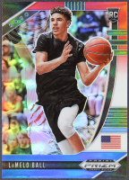 LaMelo Ball 2020-21 Panini Prizm Draft Picks Prizms Red White and Blue #3 RC at PristineAuction.com