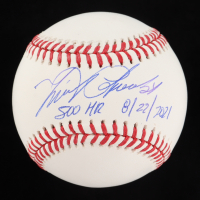 "Miguel Cabrera Signed OML Baseball Inscribed ""500 HR 8/22/2021"" (JSA COA) at PristineAuction.com"