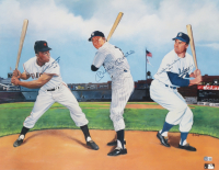 Willie Mays, Mickey Mantle & Duke Snider Signed 22x28 Poster (Beckett LOA) at PristineAuction.com