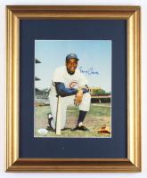 Ernie Banks Signed Cubs 13x16.5 Custom Framed Photo (JSA COA) at PristineAuction.com