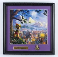 "Thomas Kinkade ""Pinocchio"" 16x16 Custom Framed Print Display at PristineAuction.com"
