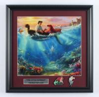"Thomas Kinkade ""The Little Mermaid"" 16x16 Custom Framed Print Display with (2) Movie Pins at PristineAuction.com"