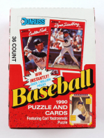 1990 Donruss Baseball Puzzle and Cards Hobby Box of (36) Packs at PristineAuction.com
