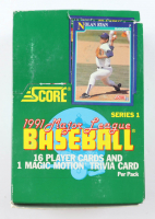 1991 Score Series 1 Baseball Box with (36) Packs at PristineAuction.com