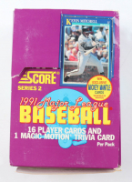 1991 Score Series 2 Baseball Box with (36) Packs at PristineAuction.com