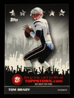 Tom Brady 2009 Topps Topps Town Silver #TTT17 at PristineAuction.com