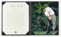 "Tiger Woods Upper Deck ""Career Grand Slam"" 8.5x10.5 Binder Display at PristineAuction.com"